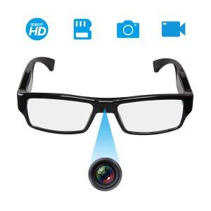 [Upgraded Version] FHD Hidden Camera Eyeglasses - Super Small Surveillance Spy Camera - Video Loop Recording - Snapshot - Mini Digital Camera-USB Charger