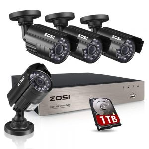 ZOSI 8CH Security Camera System HD-TVI Full 1080P Video DVR Recorder with 4X HD 1920TVL 1080P Indoor Outdoor Weatherproof CCTV Cameras 1TB Hard Drive,Motion...