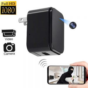 Hidden Camera Charger - 1080P WiFi HD Spy Cameras - Plug Wall Charger Mini Camera Video Recorder Wireless Real-time Remote See Live Nanny Cam