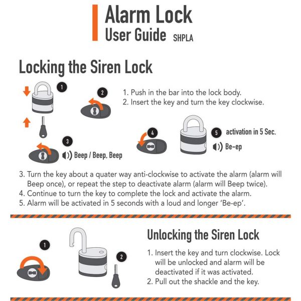 Crystal Vision SHPLA Weather Proof Anti Theft Loud 130db Alarm 10mm Heavy Duty Padlock for Multi Purpose. Auto Arm & Disarm, Alarm Lock, Siren Lock, Gun...